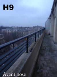 balcon securite plexi